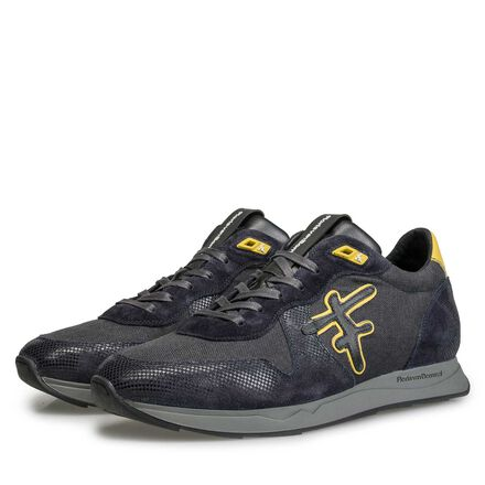 Leder Sneaker mit F-Logo