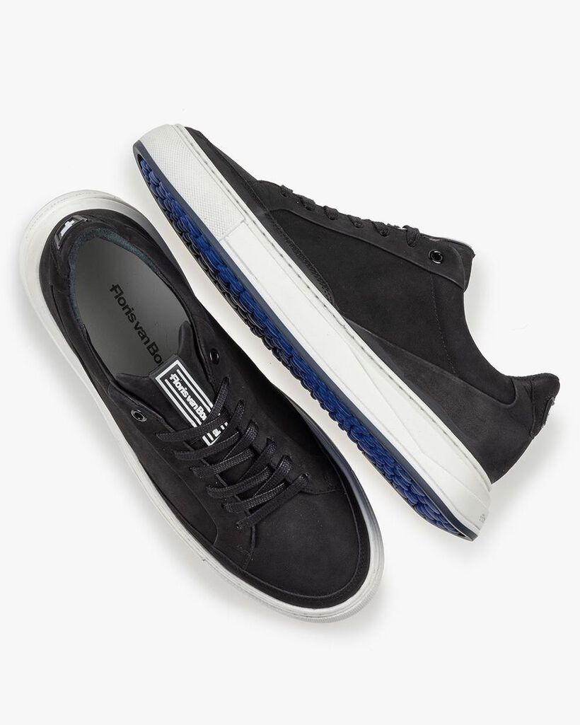 Sneaker Nubukleder schwarz