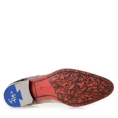 Leder Schnürschuh mit Rote sohle