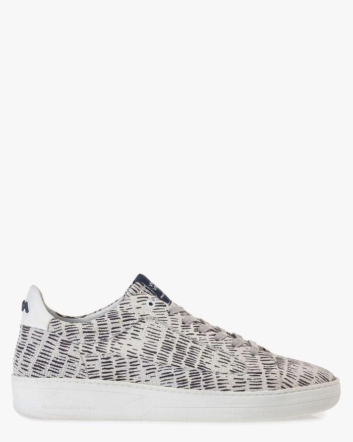 Sneaker Nubukleder schwarz-weiß