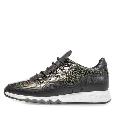 Premium Metallic-Leder-Sneaker mit Print