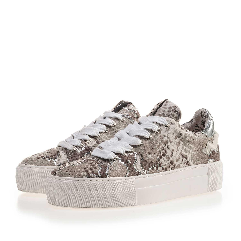 Freizeitschuhe Damen Schuhe TOP Sneakers Schnürer 7526 Beige 36