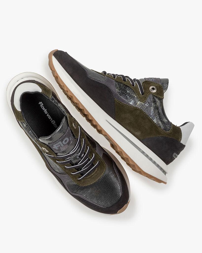 Sneaker Wildleder dunkelgrün
