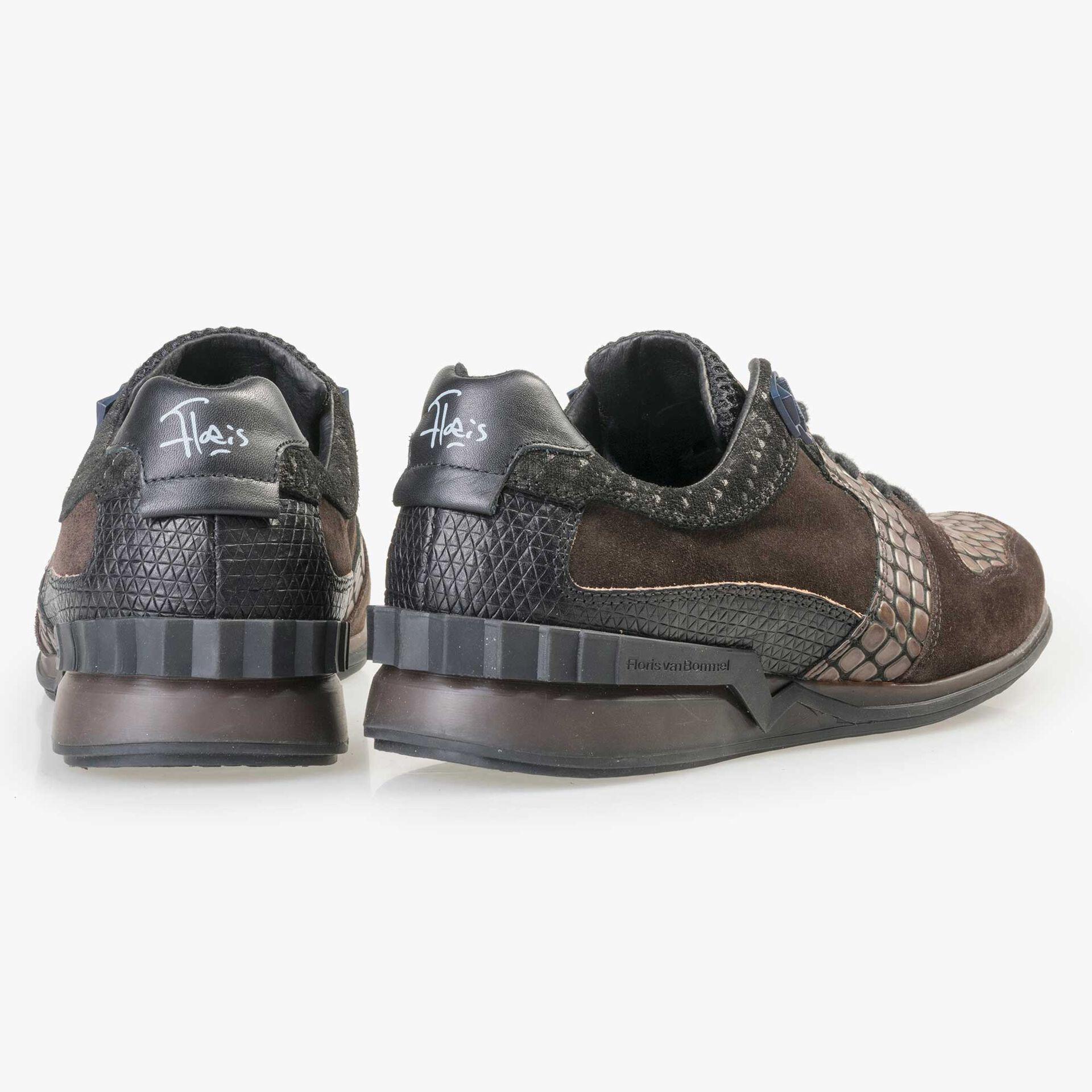 Floris van Bommel Premium dark brown leather sneaker
