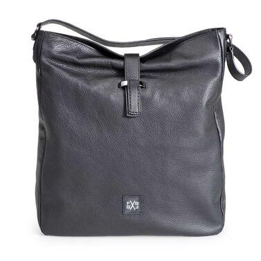 Nubuck leather shoulder bag