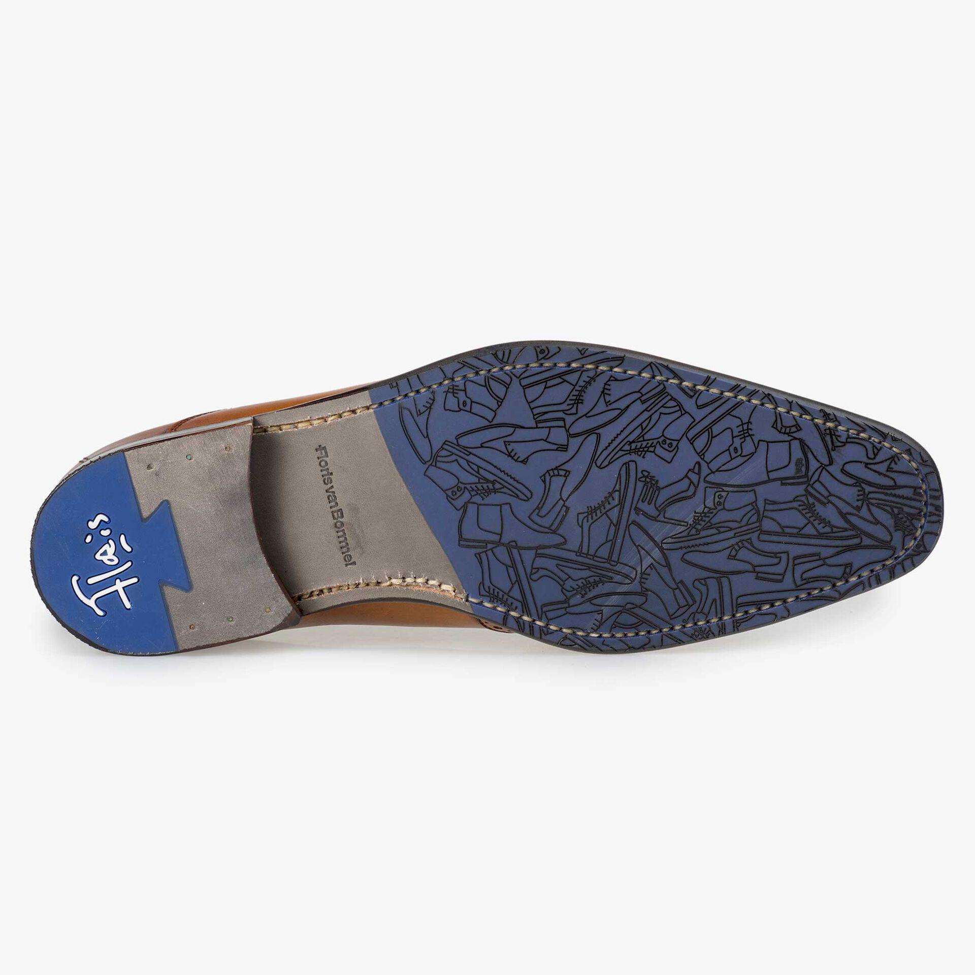 Floris van Bommel men's light cognac-coloured leather lace shoe