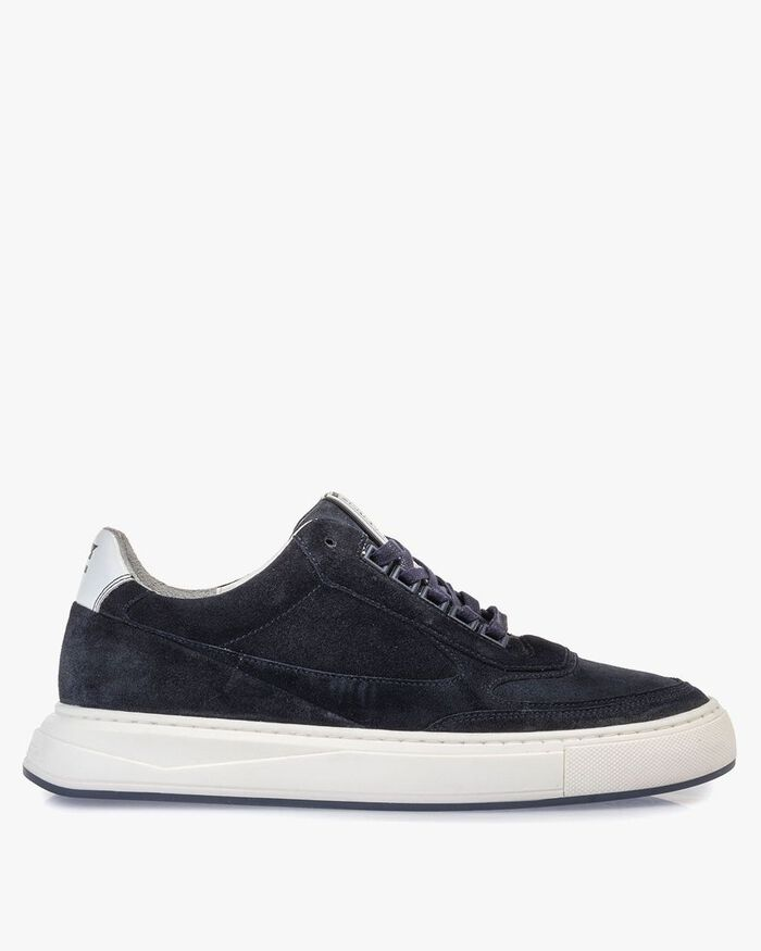 Sneaker suede leather dark blue