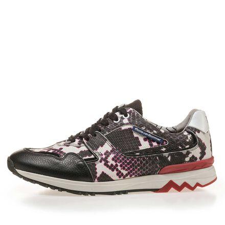 Premium sneaker with snake print