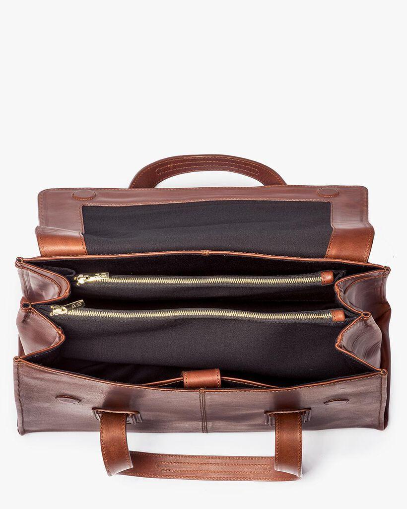 Braune Leder-Business-Tasche