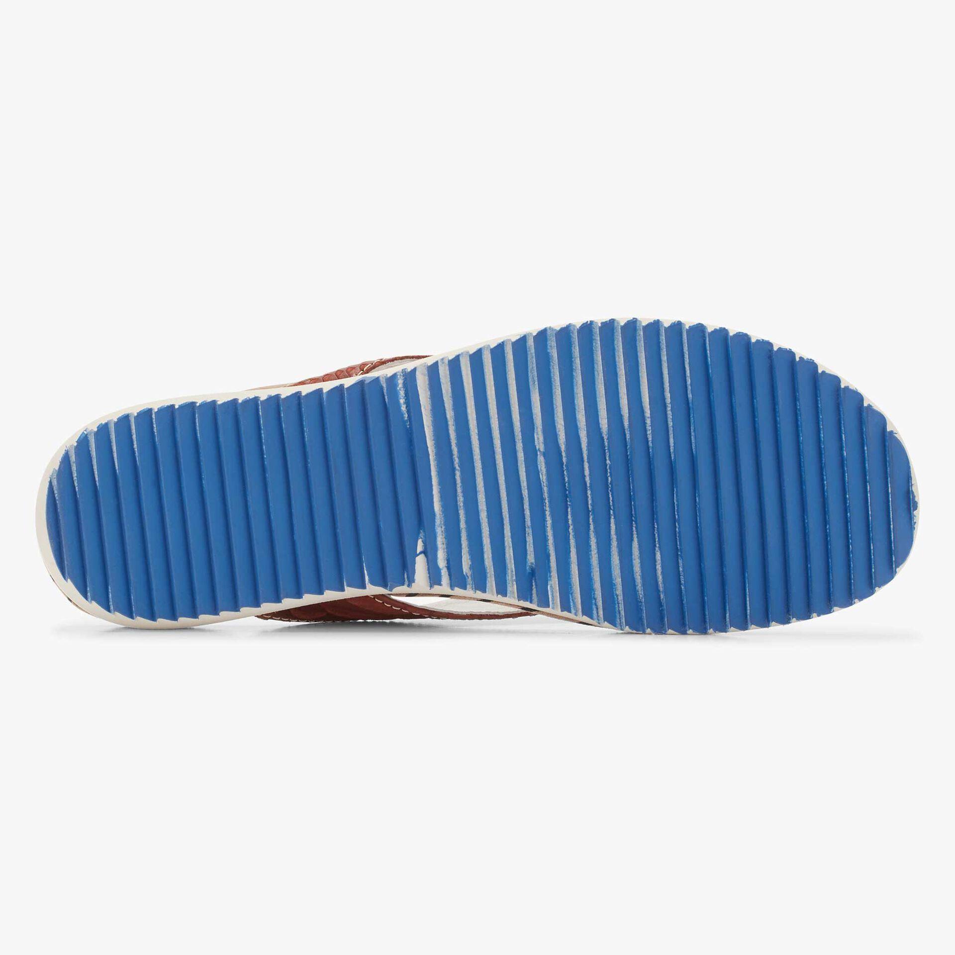 Floris van Bommel men's dark brown leather flip-flops