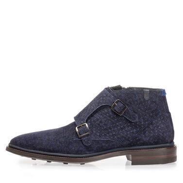 Monk strap with rubber sole