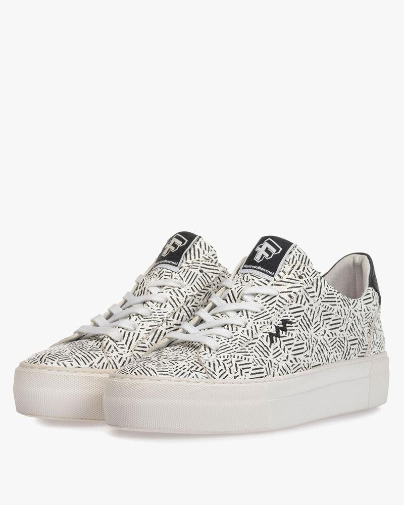 Sneaker Zick-Zack-Print schwarz-weiß