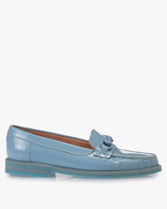Loafer Lackleder hellblau