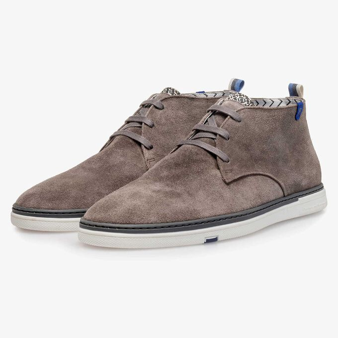 Slightly buffed suede leather boot
