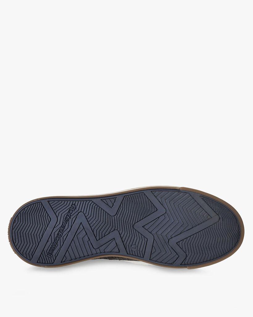 Sneaker Reptilienprint taupe
