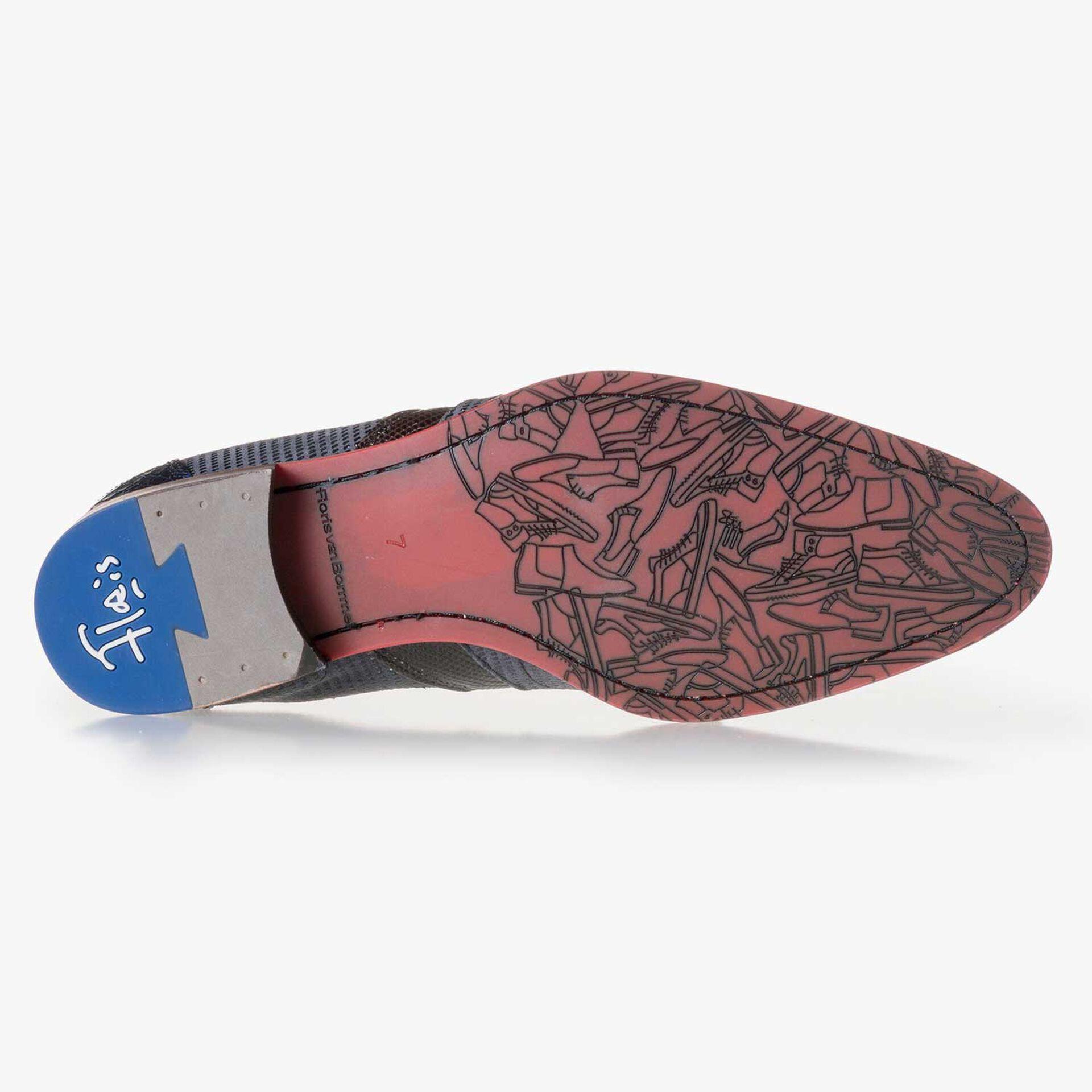 Dark grey suede leather Chelsea boot