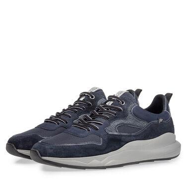 Leder-Sneaker mit Sneakersohle