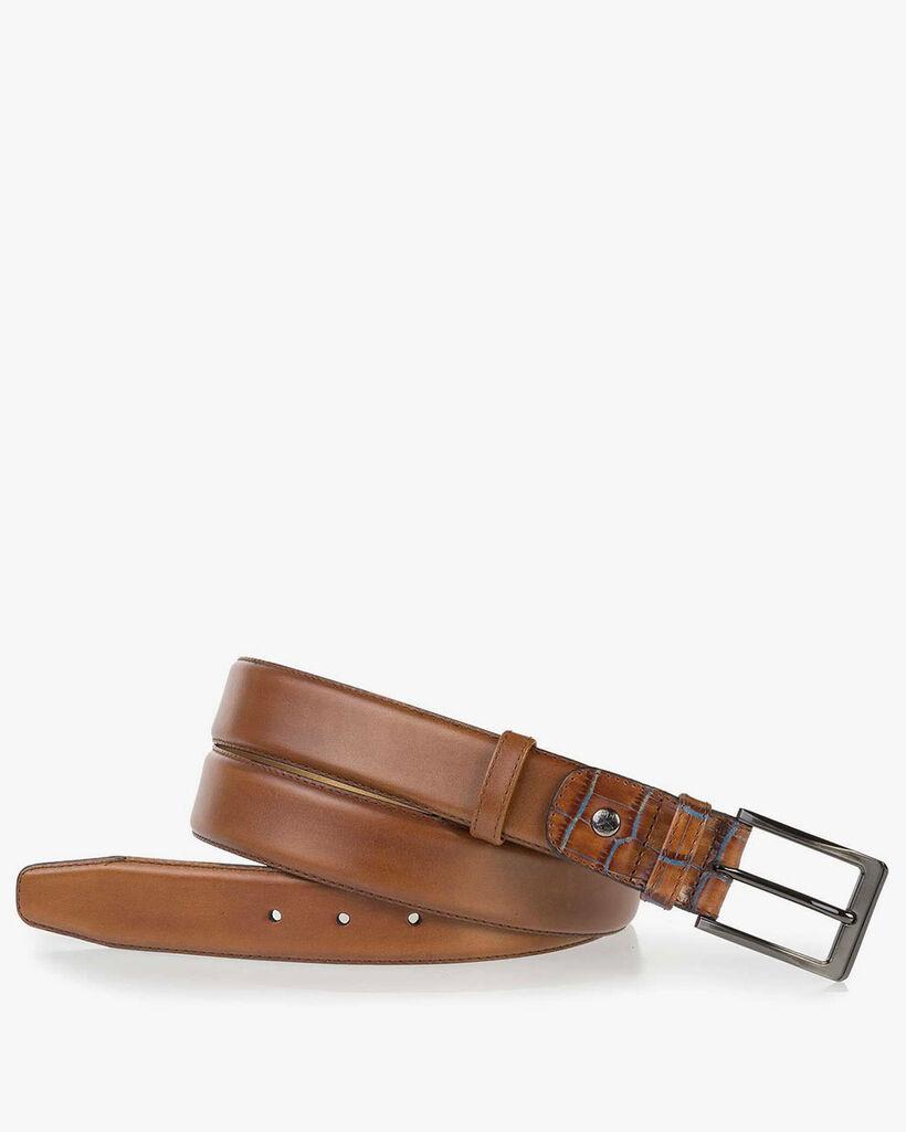 Cognac calf's leather belt