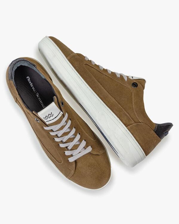 Wildleder-Sneaker beige
