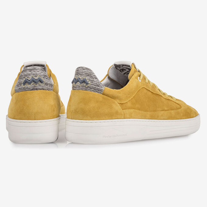 Yellow suede leather sneaker