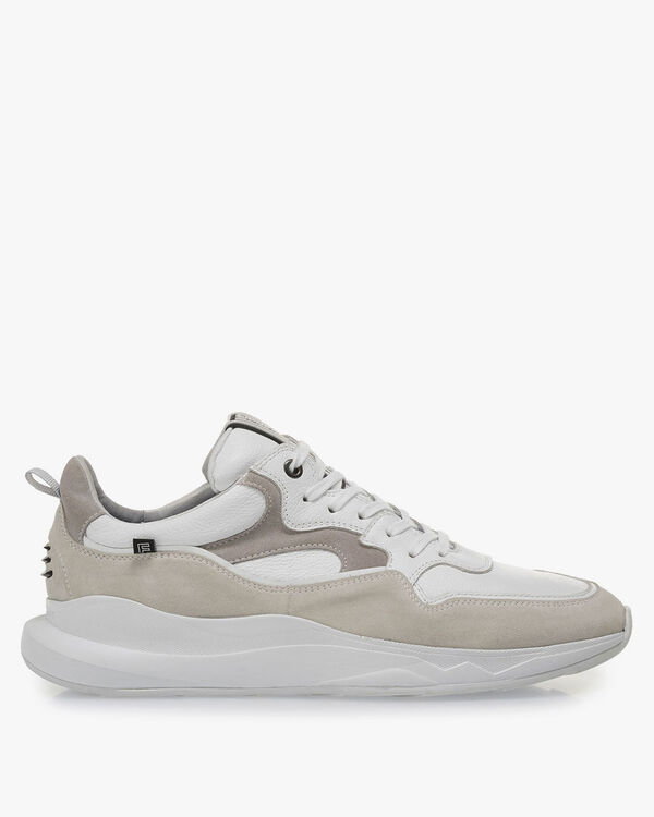 White sneaker suede leather