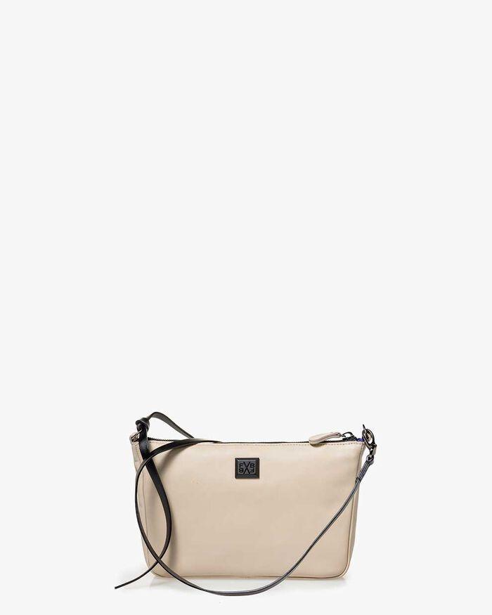 Crossbody-Tasche Leder beige