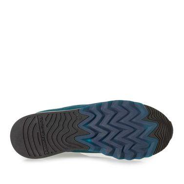 Wildleder-Sneaker mit Textil