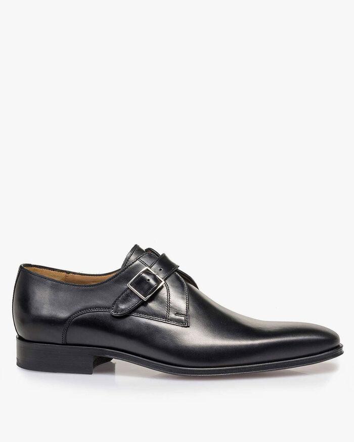Monk strap calf leather black