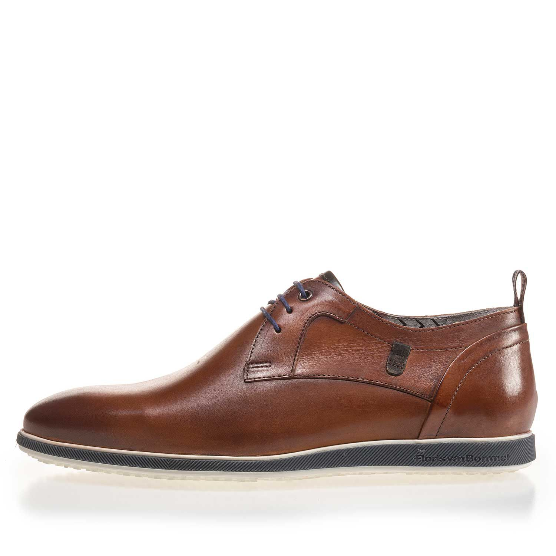 Cognac coloured leather sneaker 1623808 | Floris van Bommel®