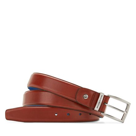 Leather belt mit kobaltblaue Futter