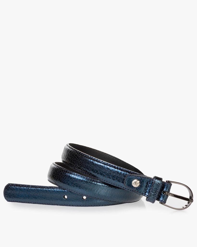 Belt leather blue