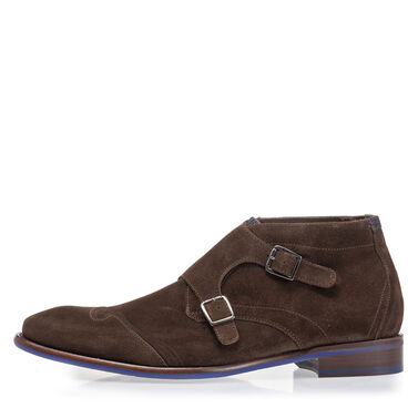 Leather buckle shoe