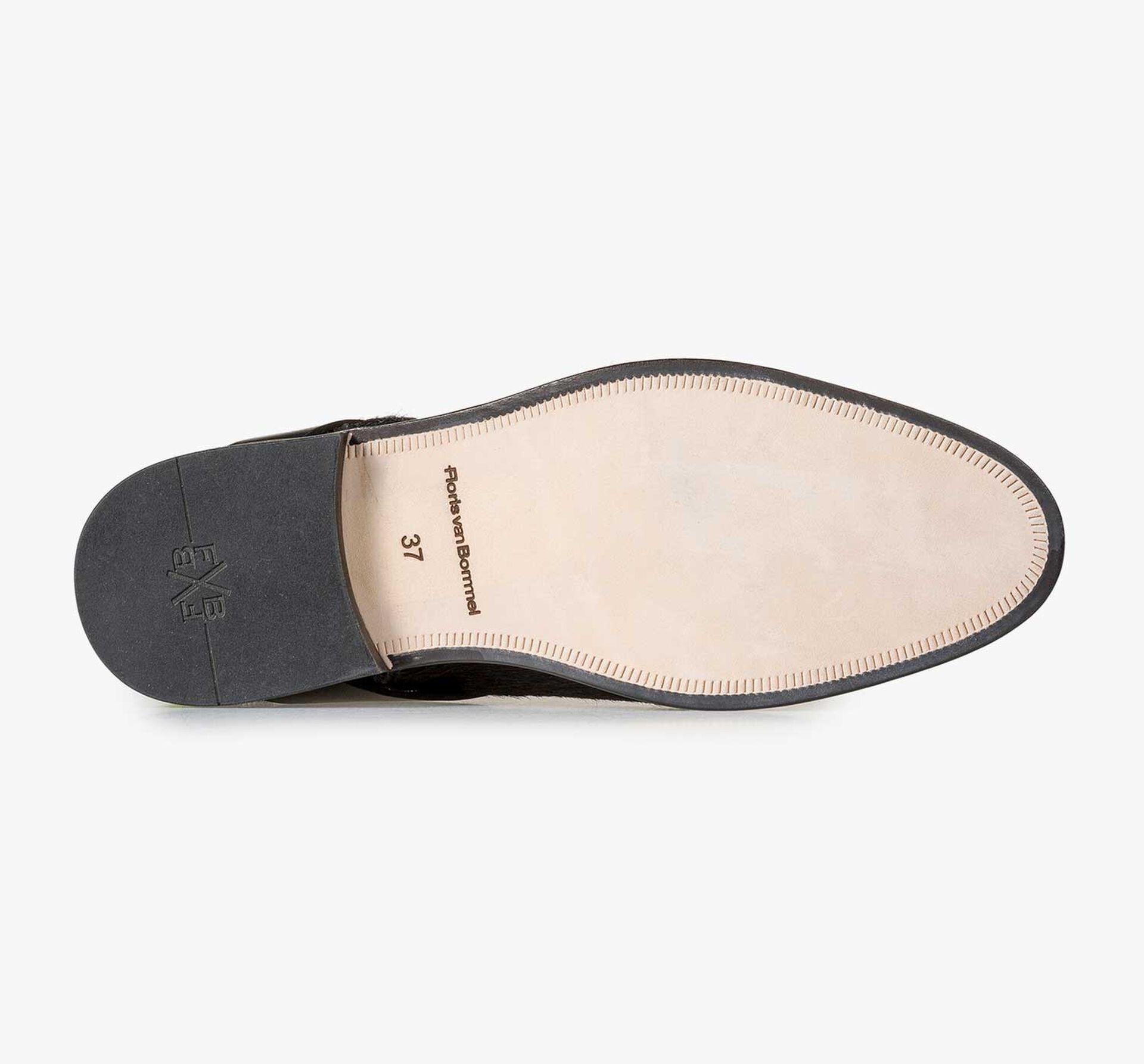 Schwarzer Ponyhaar Chelsea Boot