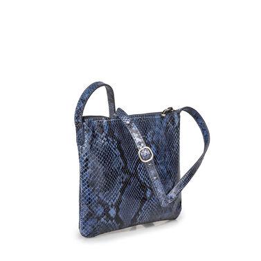 Leder-Crossbody-Tasche mit Schlangenprint
