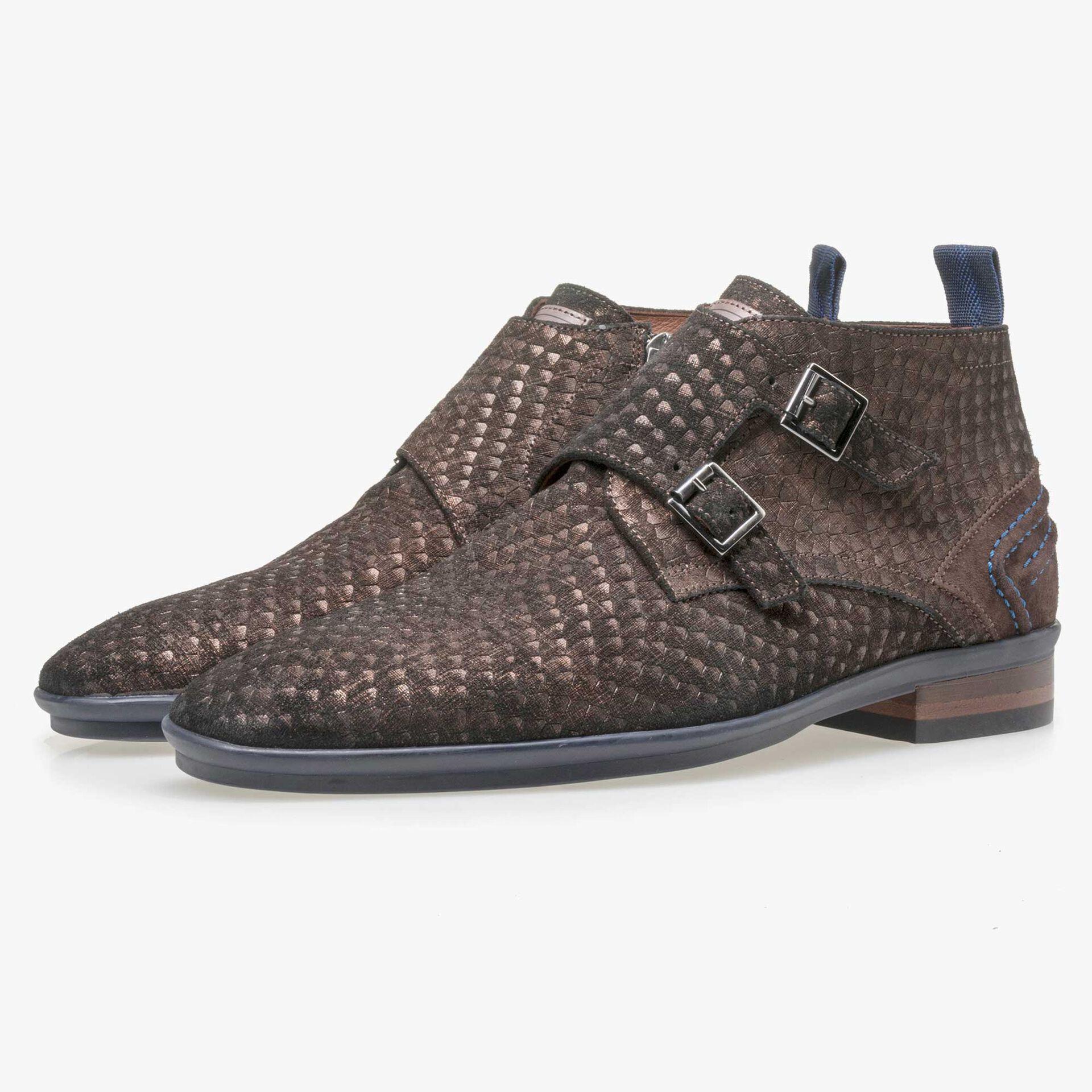 Floris van Bommel brown buckled shoe