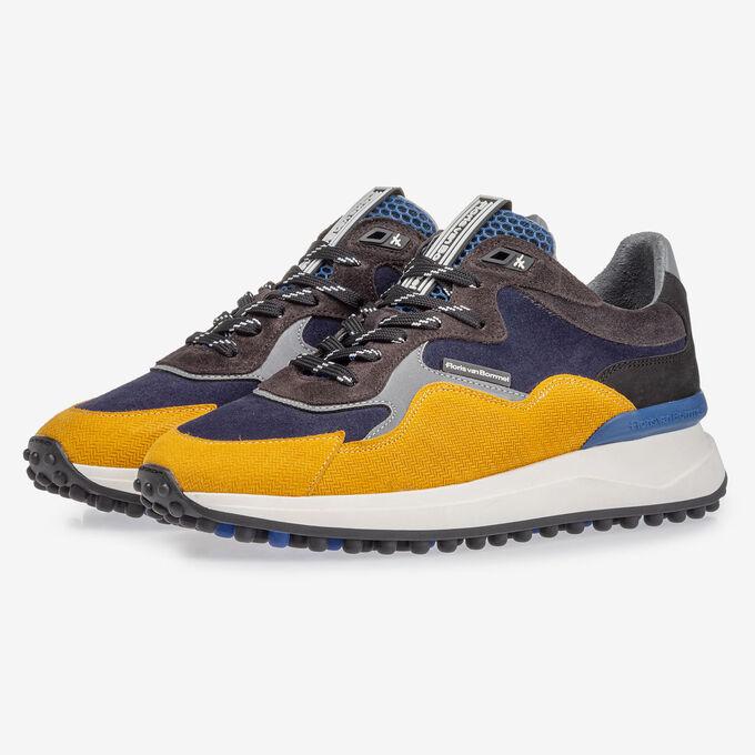 Noppi Sneaker blau-gelb