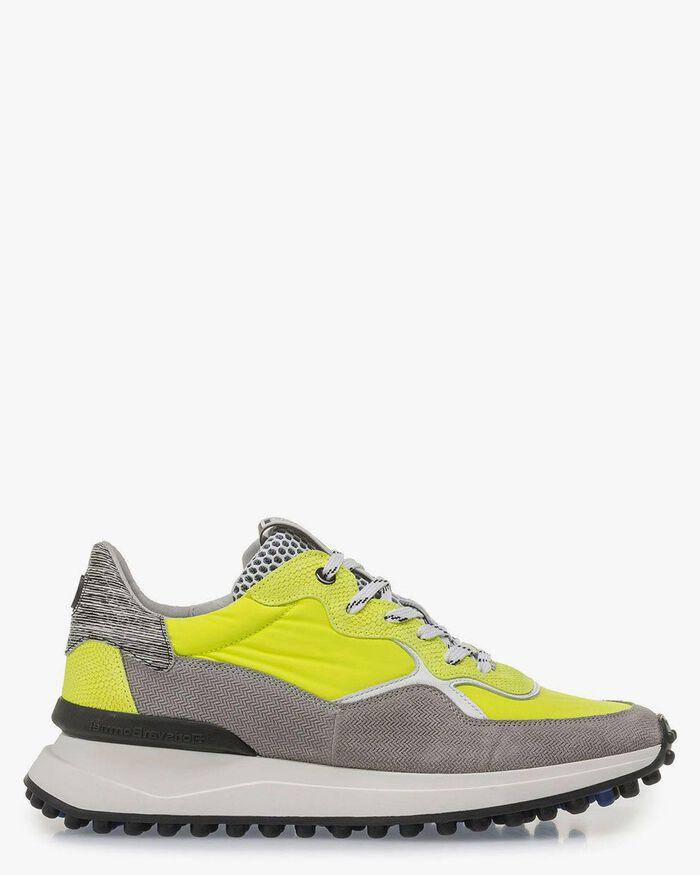 Grau-gelber Premium Sneaker