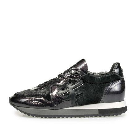 Leder-Sneaker mit Joggingschuhsohle