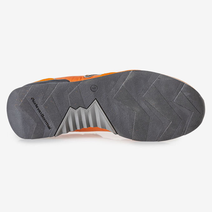 Sneaker orange Wildleder