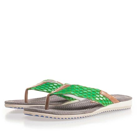 Floris van Bommel leather men's flip flops