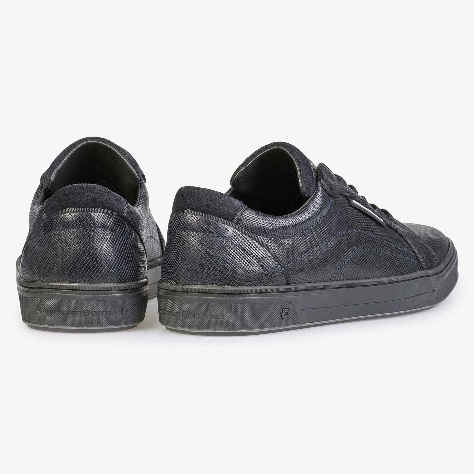 Blauer Kalbsleder Sneaker