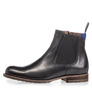Lammfell gefütterter Leder-Chelsea Boot