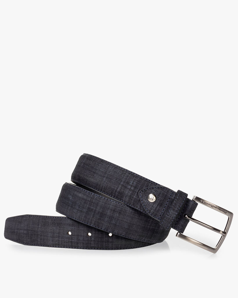 Belt printed leather black