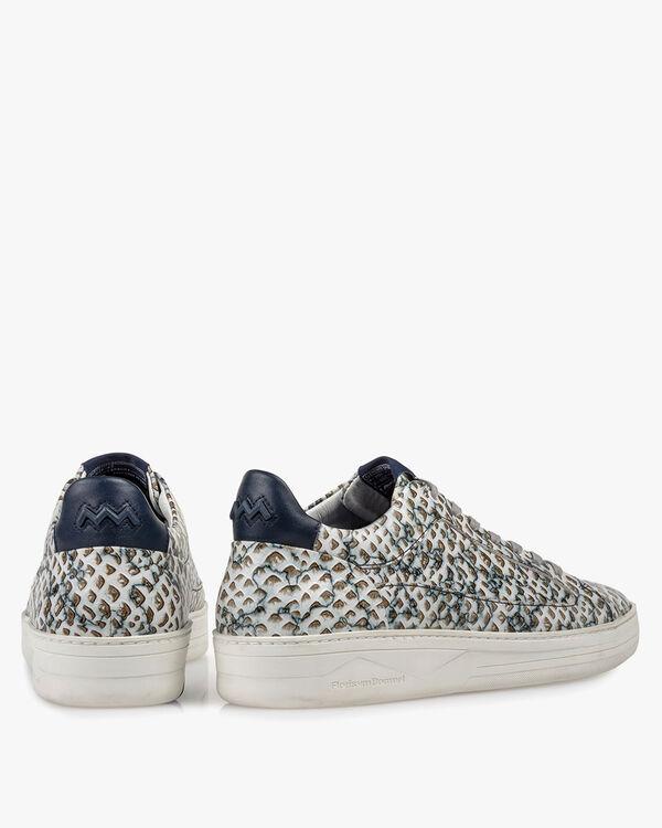 Sneaker mit Print Leder sandfarben