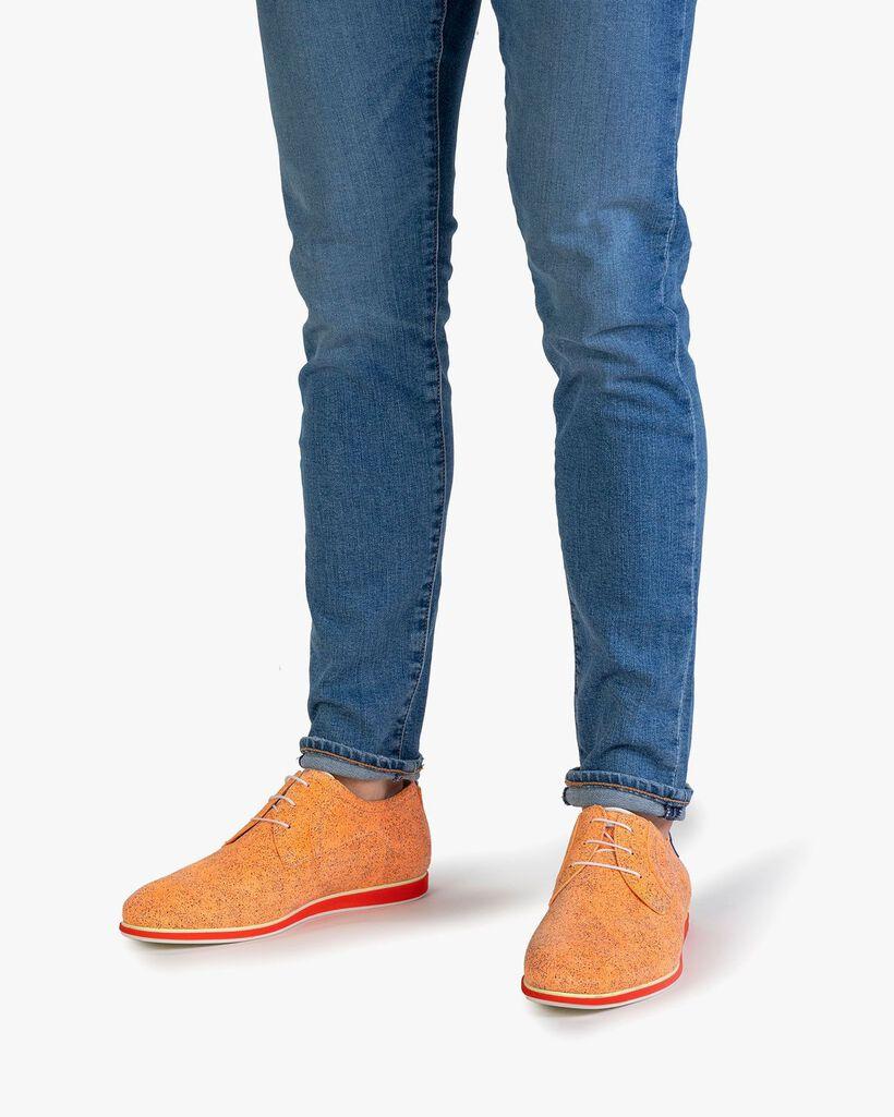 Schnürschuh Wildleder orange