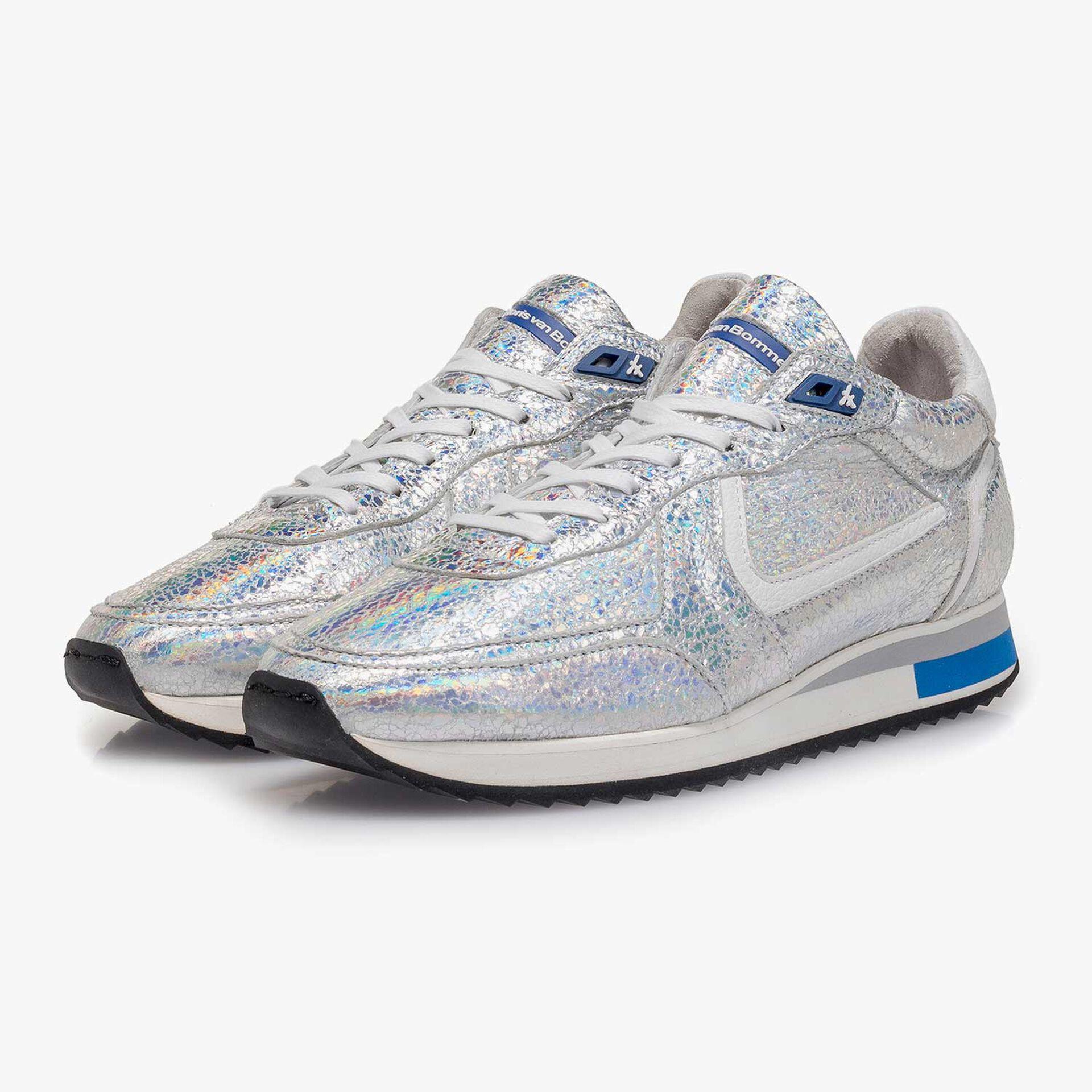 Silber Metallic Leder-Sneaker