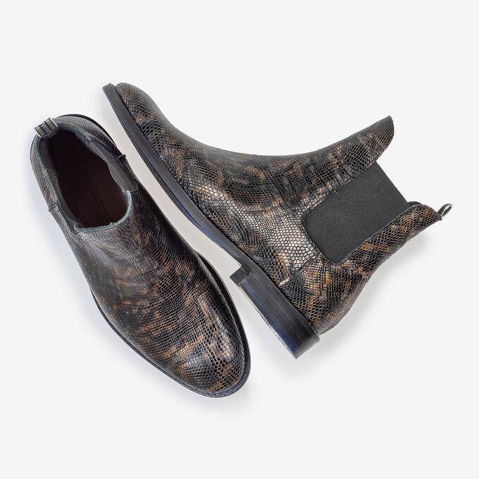 Chelsea Boot Krokoprint kupfer