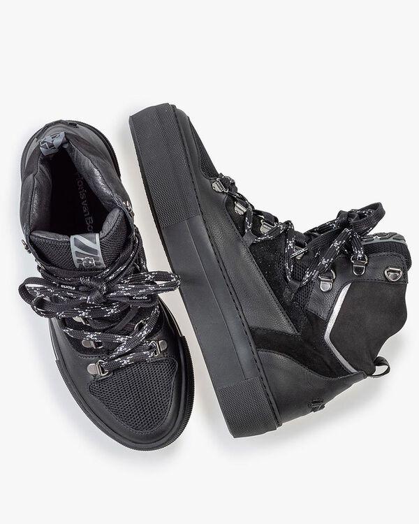 Halbhoher Sneaker schwarz Leder