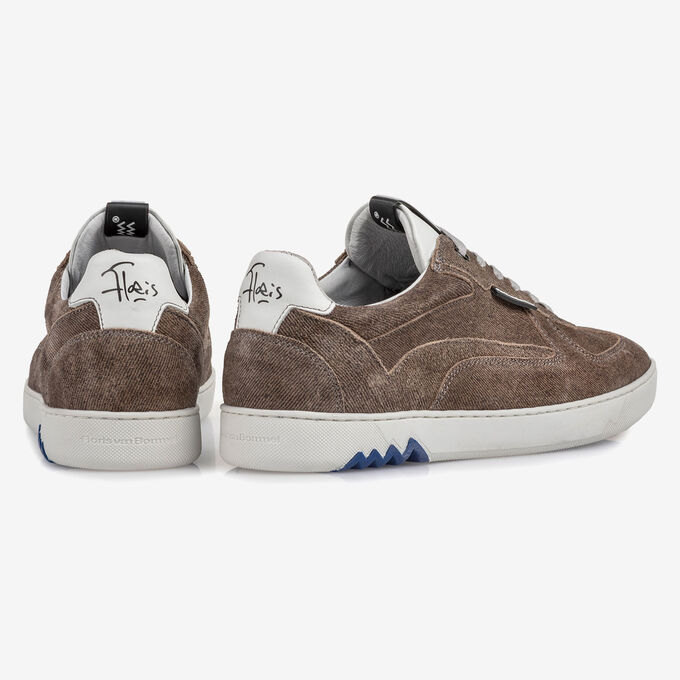 Sneaker sandfarben Wildleder