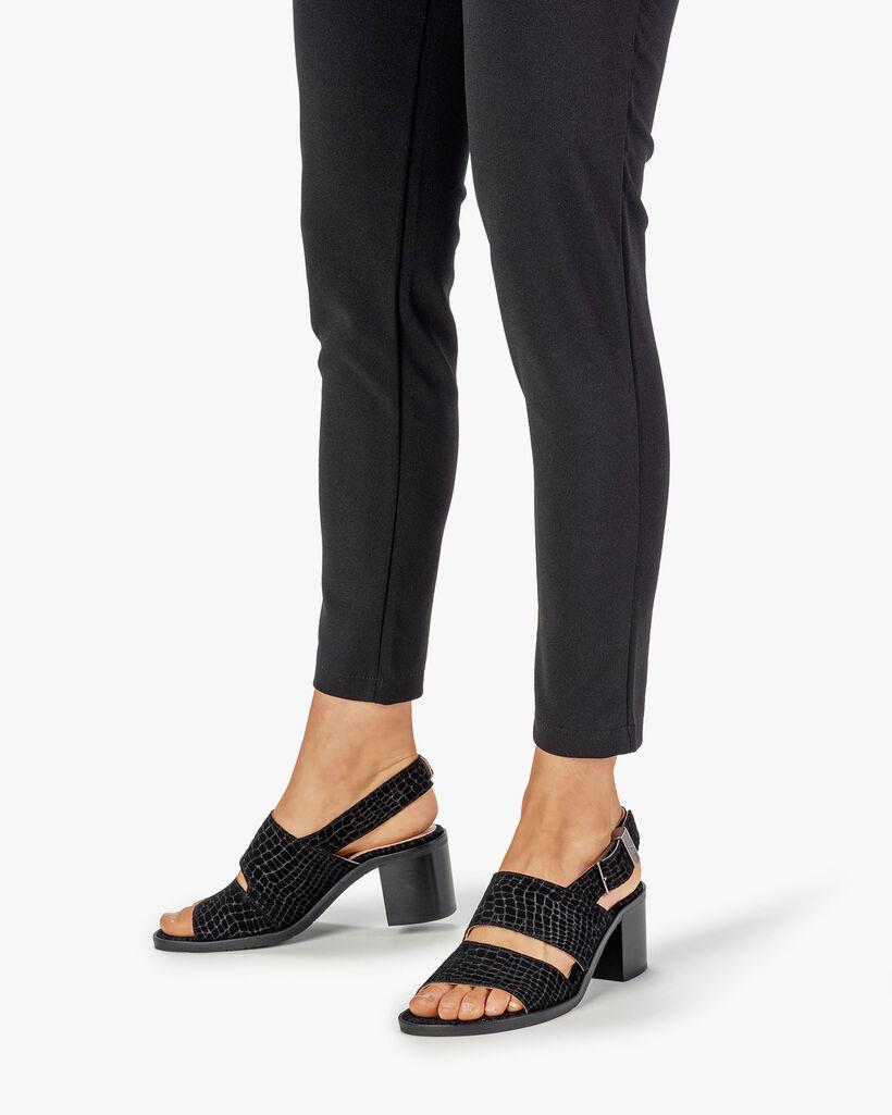 Sandal printed suede leather black